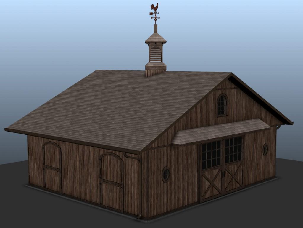 Initial four horse barn